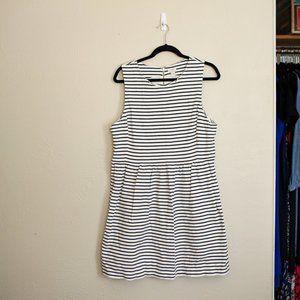 J Crew Stripe Dress w/ Pockets XL